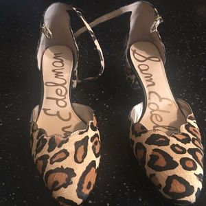 Sam Edelman size 11 leopard shoes